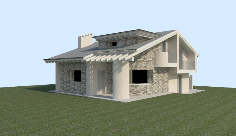 Ville con portico in legno trendy foto in vendita a for Progetti di portico anteriore